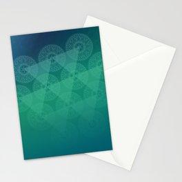 blue oriental shadow Stationery Cards