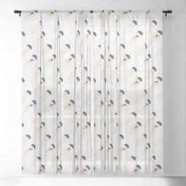 november ice cream Sheer Curtain