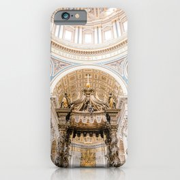 Rome 0002: Saint Peters Cathedral, San Pietro, Vatican City, Rome, Italy iPhone Case