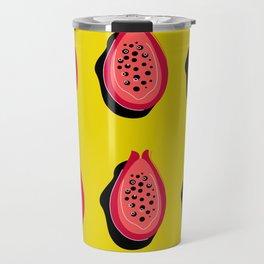 Papaya sweet Yellow. Original illustration Fruit Papaya Travel Mug