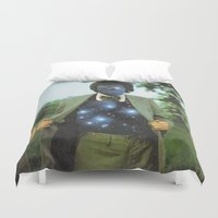 sagan Duvet Covers featuring Everything the universe is within you  by Mariano Peccinetti