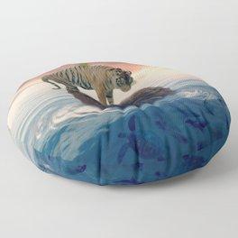 Tiger Drifting by GEN Z Floor Pillow