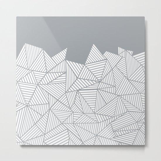 Abstract Mountain Grey Metal Print