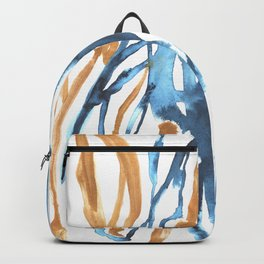 Marble Gold and Blue Backpack