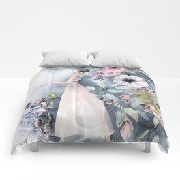 Ballerina and flowers n.3 Comforters
