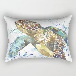 Sea Turtle Pura Vida Watercolor Rectangular Pillow