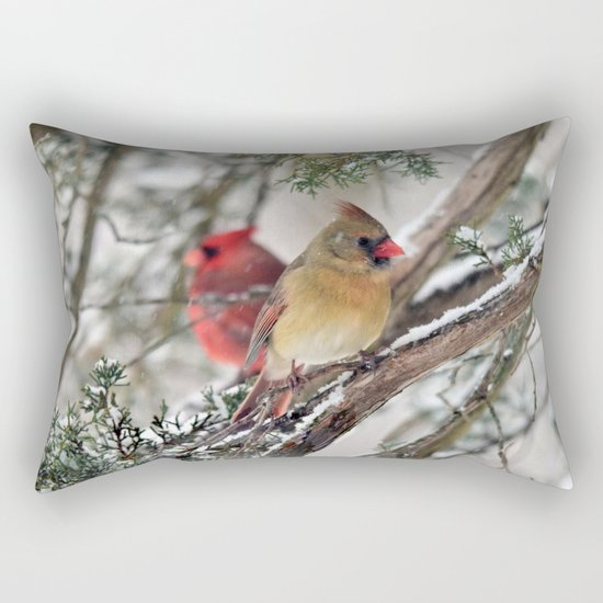 Tandem Cardinals Rectangular Pillow