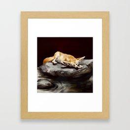 Sleeping ears Framed Art Print