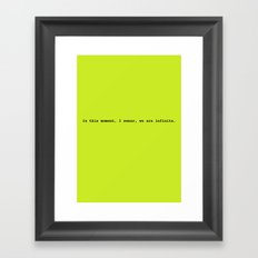 We are infinite Framed Art Print