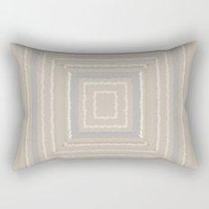 Sandy Beige Concentric Squares Rectangular Pillow
