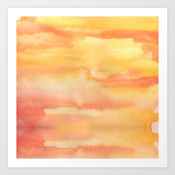 Apricot Sunset Art Print