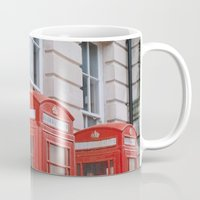 telephone Mugs featuring Telephone boxes by For the easily distracted...