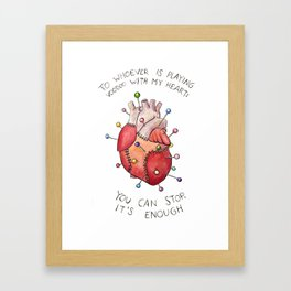 Voodoo Heart Framed Art Print