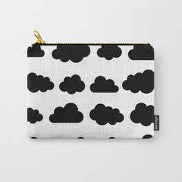 Black clouds - Black and white art Carry-All Pouch