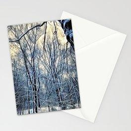 4 Oclock Winter Landscape Stationery Cards