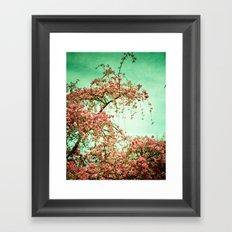 Flowers Touch the Sky Framed Art Print