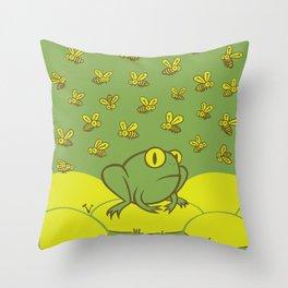 Frog Pond Throw Pillow