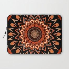 Boho Chic Rustic Orange Mandala Laptop Sleeve