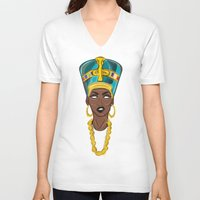 "lebron V-neck T-shirts featuring ""Neffortlessly"" by SaintCastro"