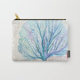 Watercolor Seafan Carry-All Pouch