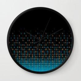 Binary Speed Blue Wall Clock