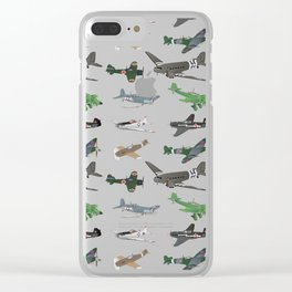 Multiple WW2 Airplanes Clear iPhone Case