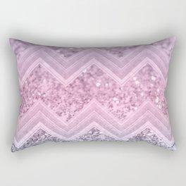 Unicorn Glitter Chevron #1 #pastel #shiny #decor #art #society6 Rectangular Pillow