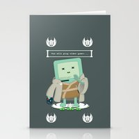 video games Stationery Cards featuring Jedi Mo: You will play video games... by FuManChou