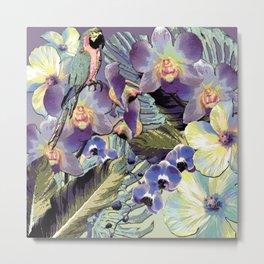 Mauve Orchid Tropical Metal Print