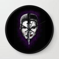 swan queen Wall Clocks featuring Swan Queen by ibeenthere