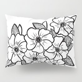 Inked flowers Pillow Sham