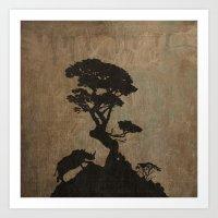 safari Art Prints featuring Safari by Last Call