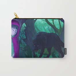 Red and wolf Carry-All Pouch