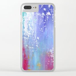 Soft Abstract Clear iPhone Case