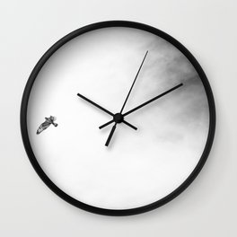 Modern Sky Photograph in Black and White Wall Clock