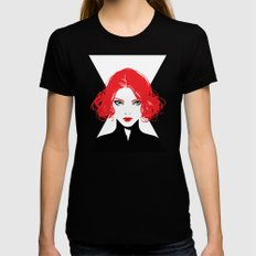 Black Widow Black Womens Fitted Tee SMALL