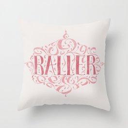 Hidden Baller Throw Pillow