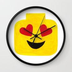 Heart Eyes - Emoji Minifigure Painting Wall Clock