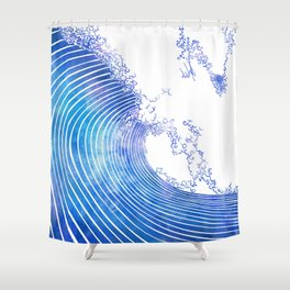 Pacific Waves III Shower Curtain