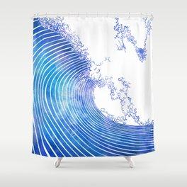 Pacific Waves III Shower Curtain