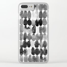 Foggy Swatches Clear iPhone Case
