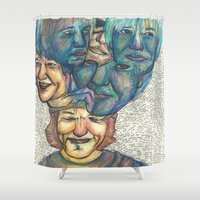 melissa smith Shower Curtains featuring Eliiot Smith  by Fabiola Vargas - Spiral Art