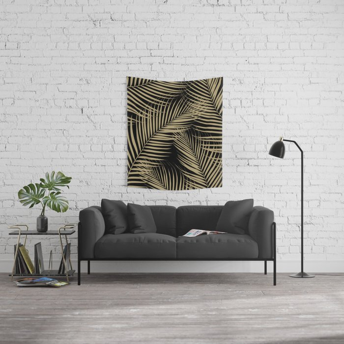 Palm Leaves - Gold Cali Vibes #2 #tropical #decor #art #society6 Wall Tapestry