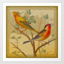 2 Birds in a Tree Art Print