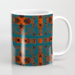 Digital Embroidery Vintage Celtic Geometric Texture Print Coffee Mug