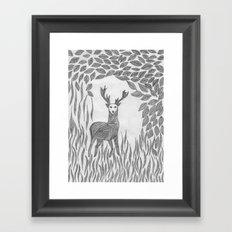Camouflage Bambi Framed Art Print