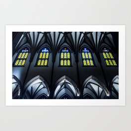 Trinity Church Nave and Aisle Art Print
