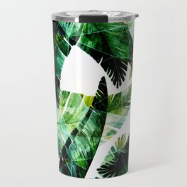 Green leaves of a banana. 2 Travel Mug