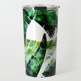 Green leaves of a banana. 2 Travel Mug
