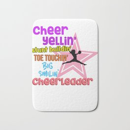 Cheer Quotes Cheerleader Bath Mat